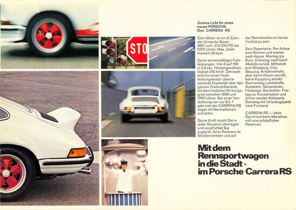 Porsche Literature 911 RS